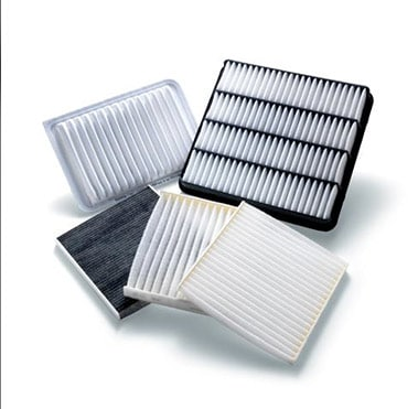 Several Toyota cabin air filters